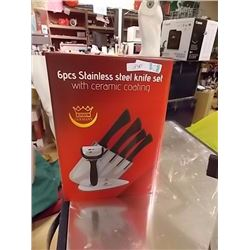 NEW STAINLESS STEEL KNIFE SET - 6 PC - GERMANY COATING - 6PC