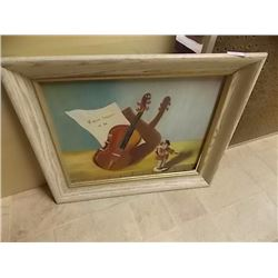 FRAME OIL PICTURE - VIOLIN SONATA IN AB