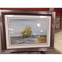 FRAMED PICTURE - TALL SHIP