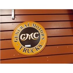 AUTOMOBILIA MEMORABILIA - METAL SIGN - CENTRAL MOTORS, GMC, TRUCKS