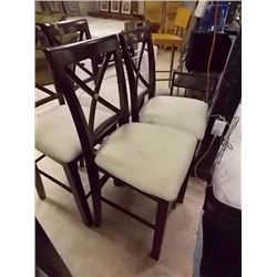 MAHOGANY BAR CHAIR - 4 X BID