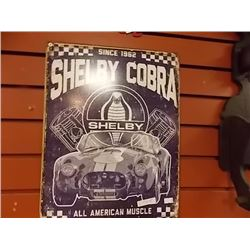 AUTOMOBILIA MEMORABILIA - METAL SIGN - SHELBY COBRA
