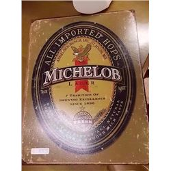 BREWER'S MEMORABILIA - METAL SIGN - MICHELOB