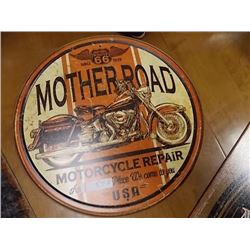 AUTOMOBILIA MEMORABILIA - METAL SIGN - MOTHER ROAD MOTORCYCLE REPAIR