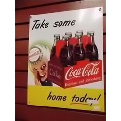 MEMORABILIA - METAL SIGN - COCA-COLA