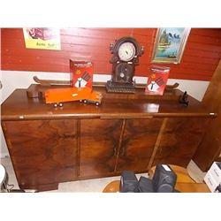 ART DECO BURL WALNUT SIDEBOARD circa. 1930