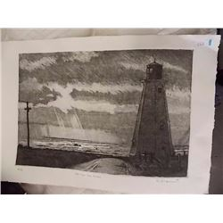 LIMITED EDITION LIGHT HOUSE PRINT - SIGNED
