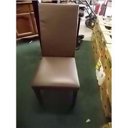 LEATHER DINING CHAIRS - 4 X BID