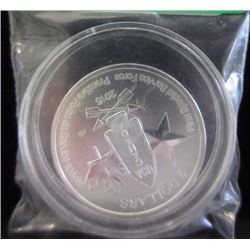 SILVER COIN - 2015 CDA 1/2 TROY OUNCE .999 SILVER - 1ST SPECIAL SERVICE FORCE COMMEMORATIVE COIN - $