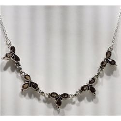 NECKLACE - GARNET IN STERLING SILVER SETTING - RETAIL ESTIMATE $600