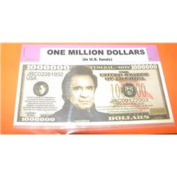 NOVELTY BILL - 1 MILLION DOLLATE BILL - JOHNNY CASH