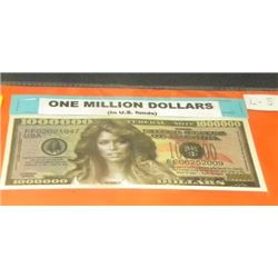 NOVELTY BILL - 1 MILLION DOLLATE BILL - FARRAH FAWCETT