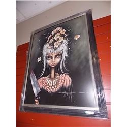 FRAMED PRINT - SINGLE AGAIN - ANGELINA WRONA - GALLERY ESTIMATE $550