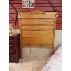 VINTAGE EAST LAKE QUEBEC ASH SINGLE HEADBOARD - CIRCA 1870