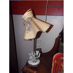 VINTAGE TABLE LAMPS - LADY & MAN FIGURE - 2 TTL