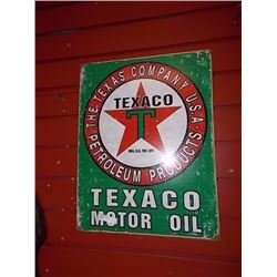 AUTOMOTIBILIA MEMORABILIA - METAL SIGN - TEXACO