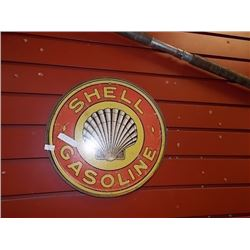 AUTOMOBILIA MEMORABILIA - METAL SIGN - SHELL GASOLINE
