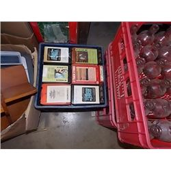 CRATE OF VINTAGE 8-TRACK TAPES
