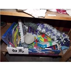 BOX OF ASSORTED NEW ITEMS FOR RESALE OR HOME