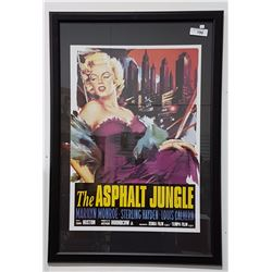 Framed movie posters for charity auction