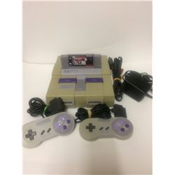 SUPER NINTENDO GAMING SYSTEM W/ CONTROLLERS & POWER ADAPTOR
