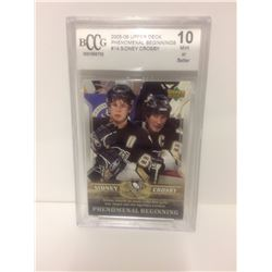 2005-06 SIDNEY CROSBY #14 UPPER DECK PHENOMINAL BEGINNINGS (10 MINT OR BETTER)