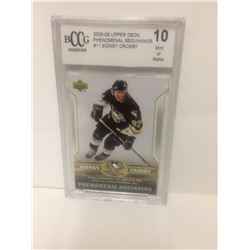 2005-06 SIDNEY CROSBY #11 UPPER DECK PHENOMINAL BEGINNINGS (10 MINT OR BETTER)