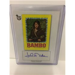 "Topps 75th Anniversary Autograph Card Julia Nichson ""Rambo First Blood II"""