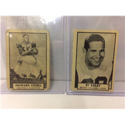 VINTAGE HOWARD CISSELL & BY BAILEY CFL TRADING CARDS