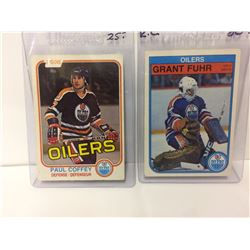 1980 OPC paul coffey rookie card # 111 edmonton oilers & 1982-83 Grant Fuhr Rookie #105 OPC