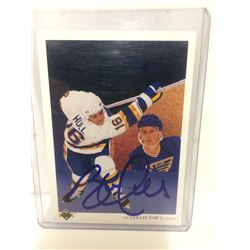 AUTOGRAPHED BRETT HULL HOCKEY CARD