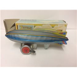 SCHYLLING ALUMINUM AIRSHIP GRAF ZEPPELIN WIND UP TIN LITHO TOY ORIGINAL BOX