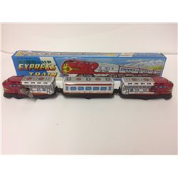 "Vintage Marlon Creation Santa Fe Wind Up Express Train Tin Japan 12.5"" In Box"