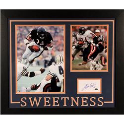 "Custom Framed Photo Inscribed ""Sweetness"" & ""16,726"" (Payton COA) Official Walter Payton COA"