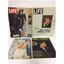 VINTAGE MAGAZINE LOT (JOHN F KENNEDY COVER)