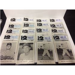 "1961 BASEBALL PICTURE CARDS LOT 5"" X 7"""