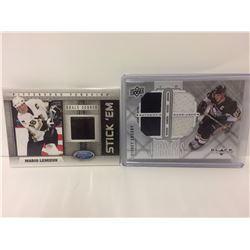 SIDNEY CROSBY & MARIO LEMIUX AUTHENTIC JERSEY CARDS