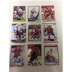 CALAGARY FLAMES AUTOGRAPHED CARD LOT