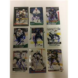VANCOUVER CANUCKS AUTOGRAPHED CARD LOT