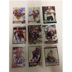 CALGARY FLAMES AUTO GRAPHED CARD LOT