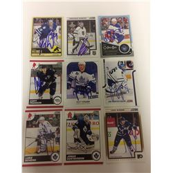 TORONTO MAPLE LEAFS AUTOGRAPHED CARD LOT