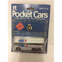 "Vintage Tomy Pocket Toy Cars ""GREYHOUND BUS"""