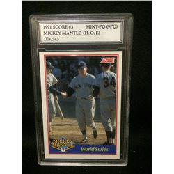 1991 SCORE #3 MICKEY MANTLE (HOF) MINT-PQ (9 PQ)