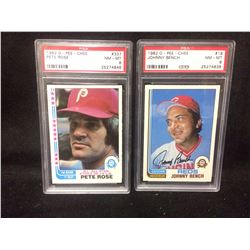 1982 O-PEE-CHEE PETE ROSE #337, & #18 JOHNNY BENCH (NM-MT 8) KSA