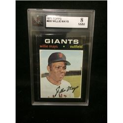 1971 Topps #600 Willie Mays (Hall Of Famer!) Rare Vintage Baseball Card (8NMM)
