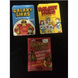 GALAXY WARS & DRAGONS LAIR TRADING CARDS LOT