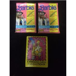 BARBIE & THE SIMPSONS TRADING CARDS LOT