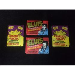 ELVIS PRESLEY & CHARLIES ANGELS WAX PACKS LOT