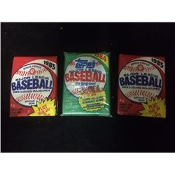 VINTAGE BASEBALL WAX PACKS LOT