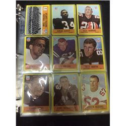 VINTAGE NFL FOOTBALL TRADING CARDS (COFFEY, HAWKINS, MARTIN)